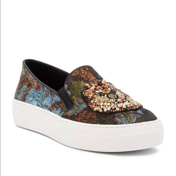 5b04a4613b5 Steve Madden Fiasco Beaded Slip-on Sneaker 6 New NWT